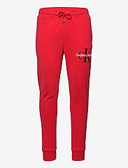 Calvin Klein Jeans - MONOGRAM JOG PANT - odzież - racing red - 0