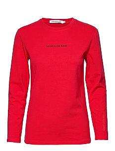 Calvin Klein Jeans Monogram T shirts Med Print Purple Barn