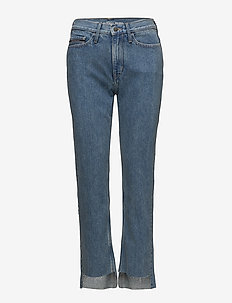 HR straight ankle st - straight jeans - rugged blue