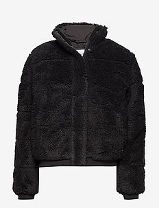POLAR FLEECE PUFFER - fuskpäls - ck black