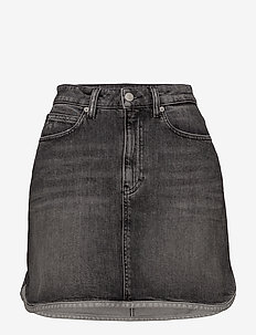 HR MINI WESTERN HEM - jeanskjolar - alcamo black