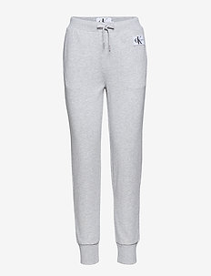 MONOGRAM SWEATPANT, - LIGHT GREY HEATHER