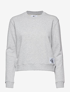 BOXY CN MONOGRAM BAD - LIGHT GREY HEATHER
