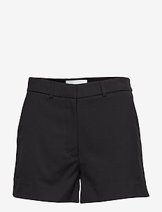 SIDE STRIPE DRAPEY TWILL SHORT - CK BLACK