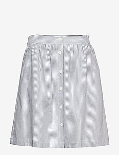 OXFORD SHORT SKIRT - bright white / ck black