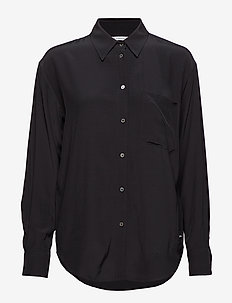 DRAPEY RELAXED SHIRT - CK BLACK