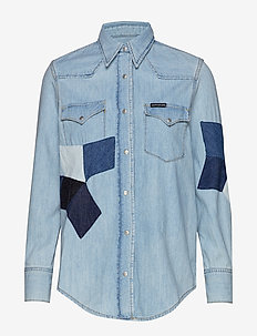 FOUNDATION WESTERN S - jeansblouses - aa009 blue quilt