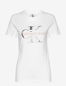 METALLIC MONOGRAM  S - BRIGHT WHITE/ METALLIC/ BLOSSO