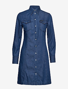 WESTERN INDIGO DRESS - DARK INDIGO