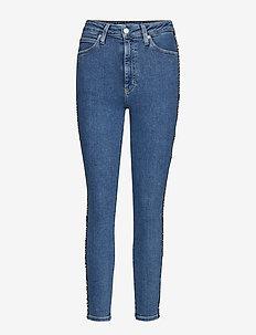 CKJ 010 HIGH RISE SKINNY ANKLE - slim jeans - aa054 side stripe logo