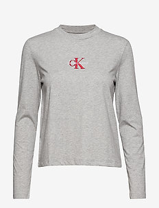 MONOGRAM EMBROIDERY, - LIGHT GREY HEATHER