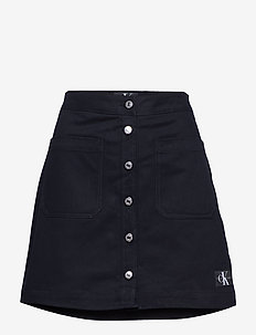 COTTON BUTTONED MINI - ck black