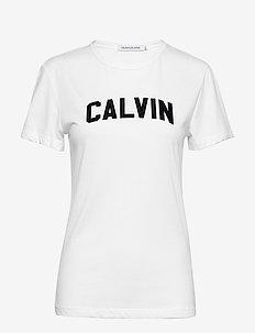 VARSITY CALVIN SLIM TEE - BRIGHT / CK BLACK