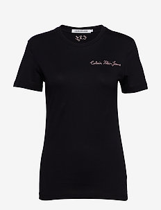 INST CHAIN STITCH SLIM TEE - CK BLACK