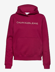 INSTITUTIONAL HOODIE - BEET RED/ BLOSSOM