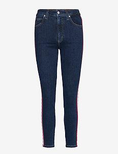 CKJ 010 HIGH RISE SKINNY ANKLE - dżinsy skinny fit - ba010 blue white red mono stri