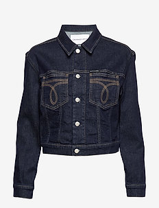 CROPPED OMEGA TRUCKE - denim jackets - ba168 rinse triple needle