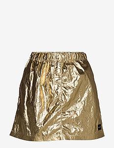 GOLD MINI SKIRT - GOLD