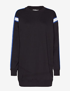 CREW NECK DRESS WITH - sweaters - ck black