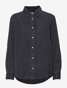 BOY SHIRT - CA082 BLUE BLACK
