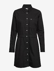LONG SLEEVE DESERT DRESS - CA009 BLACK RINSE
