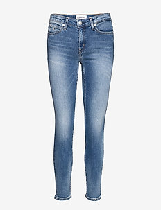 CKJ 011 MID RISE SKINNY ANKLE - CA108 BLUE EMBROIDERY