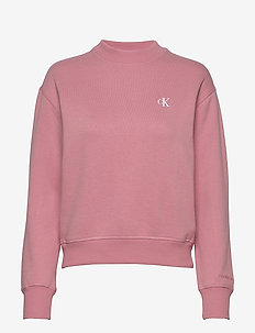 CK EMBROIDERY REGULAR CREW NECK - sweaters - brandied apricot