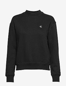 CK EMBROIDERY REGULAR CREW NECK - CK BLACK