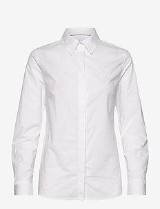 CLASSIC SLIM FIT POPLIN SHIRT - langærmede skjorter - bright white