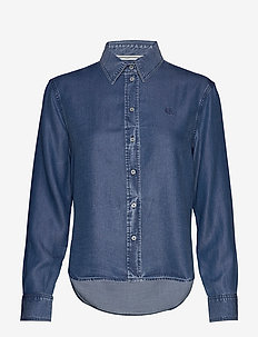 INDIGO TENCEL SHIRT - LIGHT INDIGO