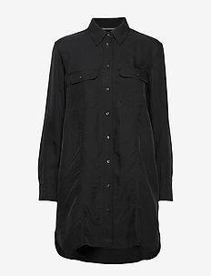 DRAPEY UTITLITY SHIRT DRESS - CK BLACK