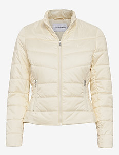 PADDED MOTO JACKET - WINTER WHITE
