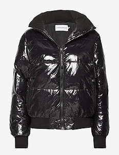 SHINY PUFFER JACKET - CK BLACK
