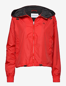 POP COLOUR UNPADDED WINDBREAKER - vestes legères - racing red / ck black