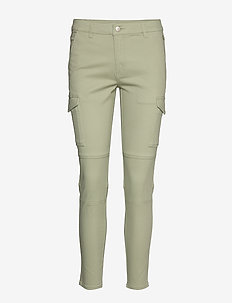 SKINNY CARGO PANTS - EARTH SAGE