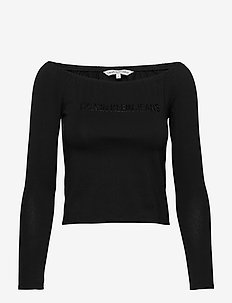 BARDOT INSTITUTIONAL LS TEE - CK BLACK
