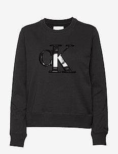 FLOCK MONOGRAM CK REGULAR CN - CK BLACK