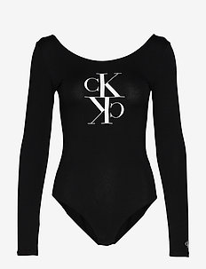 MIRRORED MONOGRAM BODY - CK BLACK