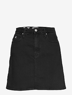 HIGH RISE MINI SKIRT - CA052 WASHED BLACK