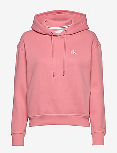 CK EMBROIDERY HOODIE - hupparit - brandied apricot