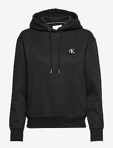 CK EMBROIDERY HOODIE - hoodies - ck black