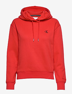 CK EMBROIDERY HOODIE - RACING RED
