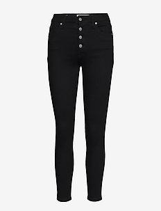 HIGH RISE SUPER SKIN - dżinsy skinny fit - da091 clean black shank