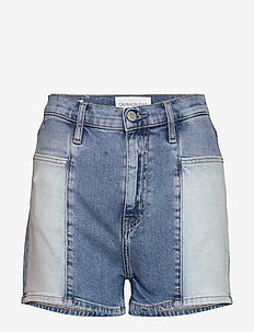 HIGH RISE SHORT - jeansowe szorty - da102 bleach blue double shade