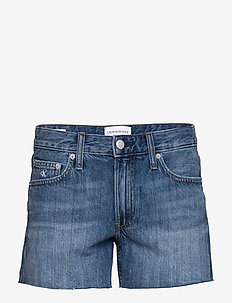 MID RISE SHORT - short en jeans - da037 light blue cut hem