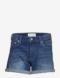 MID RISE SHORT - jeansowe szorty - da098 light blue rolled