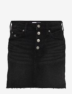 MID RISE MINI SKIRT - jeansröcke - da095 black shank rwh