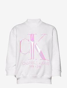 IRIDESCENT MONOGRAM - sweatshirts - bright white