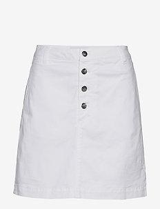 BUTTON UP TWILL SKIRT - denim skirts - bright white