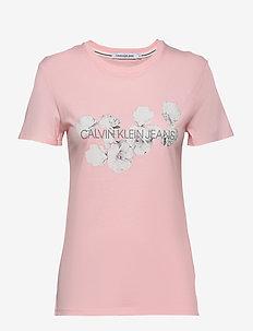 FLORAL PLACEMENT SLI - logo t-shirts - keepsake pink